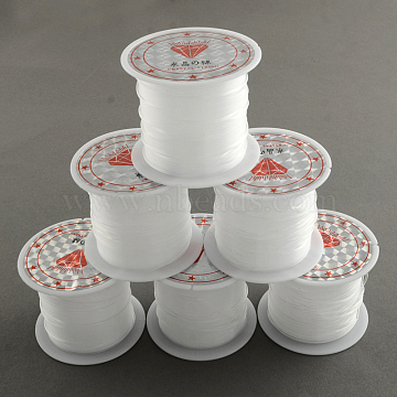 Nylon Wire, Clear, 0.2mm, about 98.42 yards(90m)/roll(X-NWIR-R011-0.2mm)