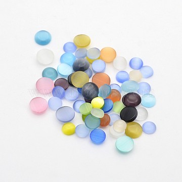 5mm Mixed Color Flat Round Glass Cabochons