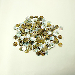 Huîtres perlières boutons shell, plat rond, environ 23 mm de diamètre, Trou: 2mm(X-NNA0VFL)