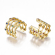 Brass Micro Pave Cubic Zirconia Clip-on Earrings(EJEW-S201-53)-2
