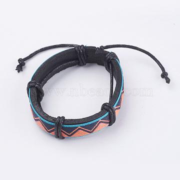 Orange Leather Bracelets