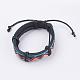 Adjustable Unisex Cowhide Cord Bracelets(BJEW-F300-05B)-1