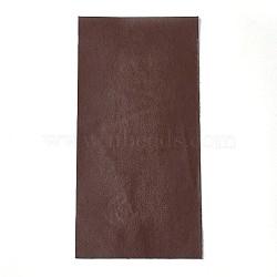 Auto-adhésifs pu autocollants en similicuir, pour l'artisanat de bricolage, brun, 200x100x0.8mm(DIY-O001-12)