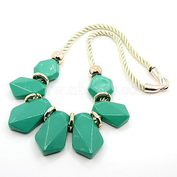 Green Resin Necklaces