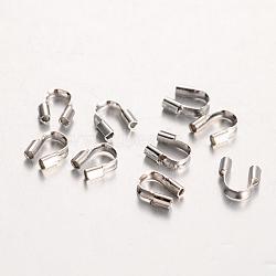 Crémaillère environnement gardiens de fil de laiton de placage, sans plomb et sans cadmium et sans nickel, platine, 5x4x1mm, Trou: 0.5mm(KK-I606-30P-NR)