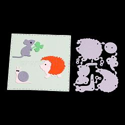 cadre de découpage en acier au carbone matrices pochoirs, pour bricolage scrapbooking / album photo, carte de papier de bricolage décoratif, matte platine, 6.5x4.8x0.08 cm(DIY-F028-19)