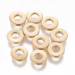 304 из нержавеющей стали шарик прокладки, пончик, золотой, 6.5x1.5 mm, отверстия: 2.5 mm(STAS-L233-064A-G)