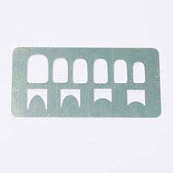Nail Steel Plate Moulds, Nail Printing Tools, Hollow, Rectangle, Mixed Pattern, Stainless Steel Color, 120x60mm(AJEW-TA0007-B04)