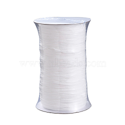 Round Polyester & Spandex Elastic Band for Mouth Cover Ear Loop, DIY Disposable Mouth Cover Material, White, 2.8mm; 300yard/Roll(OCOR-MSMC001-02A)