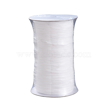 Round Polyester & Spandex Elastic Band for Mouth Cover Ear Loop, DIY Disposable Mouth Cover Material, White, 2.8mm, 300yard/Roll(OCOR-MSMC001-02A)