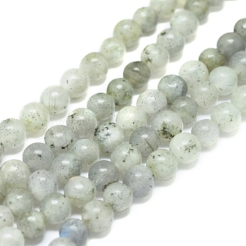Natural Labradorite Beads Strands, Round, 6mm, Hole: 1mm, about 62pcs/Strand, 15.16 inches(38.5cm)(X-G-G828-01-6mm)