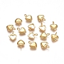Golden Heart Stainless Steel Charms(STAS-F222-025G)