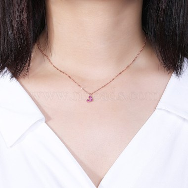 925 Sterling Silver Pendant Necklaces(NJEW-BB34627-RG)-2