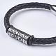 Men's Braided Leather Cord Bracelets(BJEW-P194-03)-3