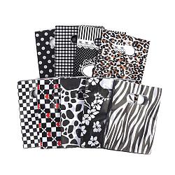 Sacs en plastique imprimés, rectangle, noir, 50x40 cm(PE-T003-40x50cm-01)