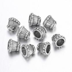 Coupelles en argent tibétain , sans plomb et sans cadmium, cône, cône, argent antique, environ 9 mm de large, Longueur 8mm, Trou: 2mm