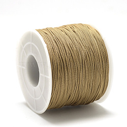 Cordons polyester, chameau, 0.4~0.5mm, environ 120~130 m / bibone (OCOR-Q038-563)
