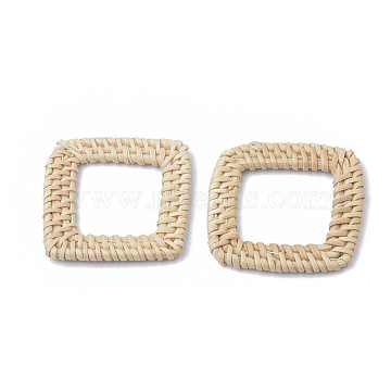 43mm AntiqueWhite Square Others Linking Rings
