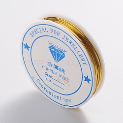 fil de bijoux de cuivre, sans nickel, or, Jauge 18, 1 mm; 2.5 m / rouleau(CW1mm007)