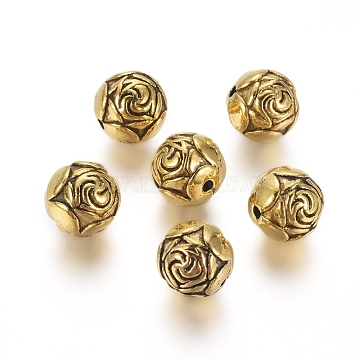 9mm Round Alloy Beads