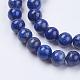 Natural Lapis Lazuli(Filled Color Glue) Beads Strands(X-G-K269-01-8mm)-3