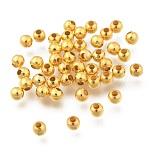 Golden Round Iron Spacer Beads(X-IFIN-R237-4mm-G)
