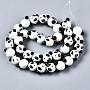 White Panda Lampwork Beads(LAMP-Q031-001)