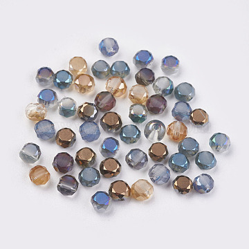 50 x Electroplated Glass Beads Various Colours Available 4mm Round