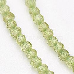 """Péridot naturel chapelets de perles, facette, rond, 2mm, trou: 0.5mm; environ 143 pcs/chapelet, 13"""" (33 cm)(G-P213-39)"""