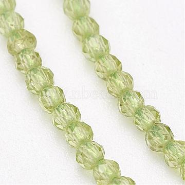 2mm Round Peridot Beads
