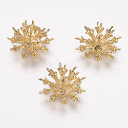 Supports laiton strass, véritable 18k plaqué or, 19 mm; plateau: 4.5 mm; broches: 0.8 mm(KK-F731-57G)