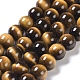 Natural Tiger Eye Round Bead Strands(G-L411-07-6mm)-1