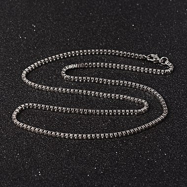 304 Stainless Steel Box Chain Necklaces(X-NJEW-O096-07)-2