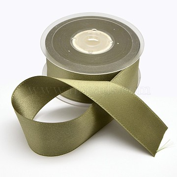 Grosgrain Ribbon for Wedding Festival Decoration, Olive, 1-1/2inches(38mm), about 100yards/roll(91.44m/roll)(SRIB-L014-38mm-569)