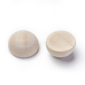Wood Cabochons, Half Round/Dome, 14.5x8mm(WOOD-WH0021-07C)