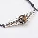 Adjustable Natural Tiger Eye Cord Beaded Bracelets(BJEW-JB03583-02)-2