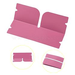 Organisateur de clip de rangement en plastique pliable portable, pour couvre-bouche jetable, rose, 190x120x0.3mm(AJEW-E034-71C)