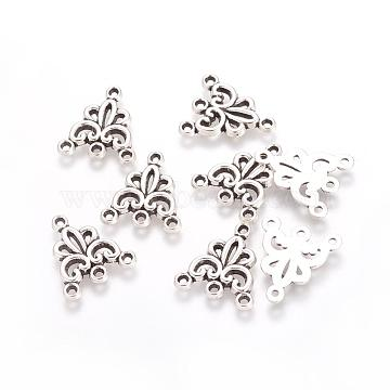 Tibetan Style Alloy Chandelier Components Links, Lead Free & Nickel Free & Cadmium Free, Antique Silver, 19x16x2mm, Hole: 1mm(X-TIBEP-00428-AS-FF)