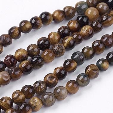 6mm Peru Round Tiger Eye Beads