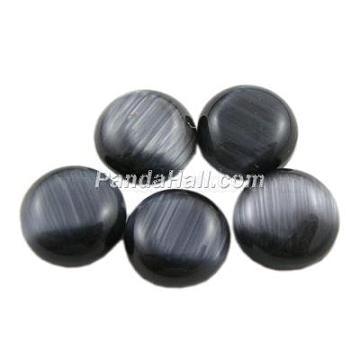 25mm Black Half Round Glass Cabochons