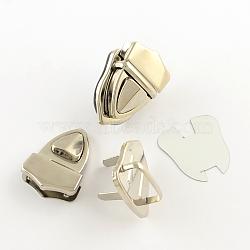 Fer bourse poussoirs ensembles de verrouillage, platine, 42x30x13mm, 3 pièces / kit(X-IFIN-R203-66P)