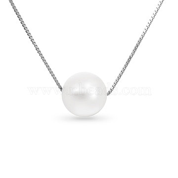White Sterling Silver+Pearl Necklaces