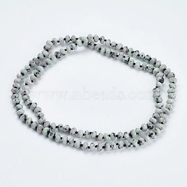 Natural Sesame Jasper/Kiwi Jasper Beaded Multi-use Necklaces/Wrap Bracelets(NJEW-K095-B02)-2