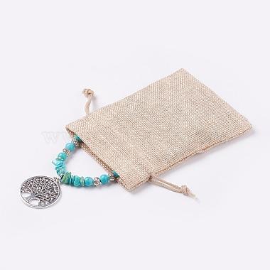 Synthetic Turquoise Pendant Necklaces(NJEW-JN02155)-3