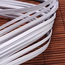 Bandes de papier quilling, blanc, 390x3mm; à propos 120strips / sac(X-DIY-J001-3mm-B33)