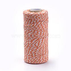 Cordons de coton, orange foncé, 1.5~2 mm; environ 100 mètres / rouleau(YC-R007-26)