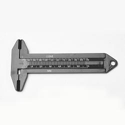 Pieds à coulisse en plastique, noir, environ5.8 cm de large, 11.5 cm de long, 0.5 cm d'épaisseur(JT011)