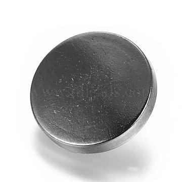 Alloy Shank Buttons, 1-Hole, Flat Round, Gunmetal, 15x7mm, Hole: 2mm(BUTT-D054-15mm-05B)