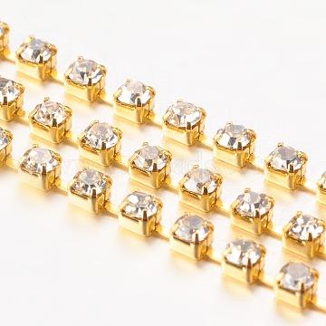 Brass+Rhinestone Rhinestone Chains Chain