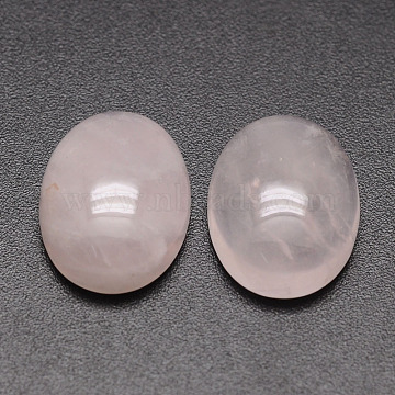 Oval Natural Rose Quartz Cabochons, 25x18x6mm(X-G-K020-25x18mm-07)